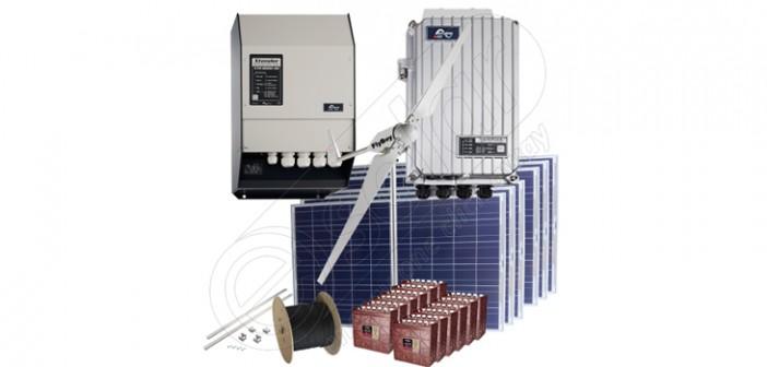 Kit sistem hibrid eoliană şi panouri fotovoltaice preț