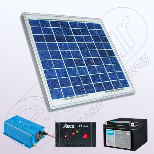 Kit fotovoltaic stand alone kit fotovoltaic cu invertor for Kit da garage stand alone