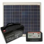 Panouri fotovoltaice policristaline cu acumulator de 45A