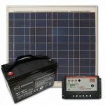 Panouri fotovoltaice policristaline kit stand alone 30W 12V 12 A