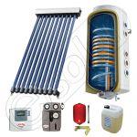 Pachet cu panou solar cu tuburi vidate, Panou solar cu tuburi vidate cu boiler termoelectric, Panouri cu tuburi vidate si boiler SIU 1x10-100.2TE