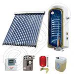 Pachet cu panou solar cu tuburi vidate, Panou solar cu tuburi vidate cu boiler termoelectric, Panouri cu tuburi vidate si boiler SIU 1x18-100.1TE
