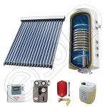 Pachet cu panou solar cu tuburi vidate, Panou solar cu tuburi vidate cu boiler termoelectric, Panouri cu tuburi vidate si boiler SIU 1x18-120.2TE