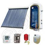 Pachet cu panou solar cu tuburi vidate, Panou solar cu tuburi vidate cu boiler termoelectric, Panouri cu tuburi vidate si boiler SIU 1x20-100.1TE
