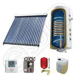 Panouri cu tuburi vidate si boiler SIU 1x22-100.2TE, Pachet cu panou solar cu tuburi vidate, Panou solar cu tuburi vidate cu boiler termoelectric