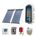 Panouri cu tuburi vidate si boiler SIU 2x10-120.2TE, Pachet cu panou solar cu tuburi vidate, Panou solar cu tuburi vidate cu boiler termoelectric