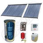 Panouri solare ieftine cu boiler bivalent de 500 litri, Pachet cu panou solar cu tuburi vidate, Set panouri solare import China Solariss Iunona