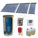 Panouri SIU 1x10-1x20-1x30-750.1BM, Pachet panouri solare cu tuburi vidate, Panouri solare cu tuburi vidate cu boiler solar