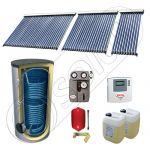 Panouri SIU 1x10-1x20-1x30-750.2BM, Pachet panouri solare cu tuburi vidate, Panouri solare cu tuburi vidate cu boiler solar