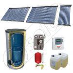 Panouri SIU 1x10-2x30-750.1BM, Pachet panouri solare cu tuburi vidate, Panouri solare cu tuburi vidate cu boiler solar
