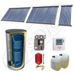 Panouri SIU 1x10-2x30-750.2BM, Pachet panouri solare cu tuburi vidate, Panouri solare cu tuburi vidate cu boiler solar