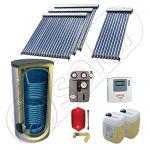 Panouri cu tuburi vidate SIU 1x10-3x20-800.2BM, Pachet panouri solare cu tuburi vidate, Panouri solare cu tuburi vidate cu boiler solar