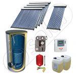 Panouri cu tuburi vidate SIU 1x10-4x20-1000.1BM, Pachet panouri solare cu tuburi vidate import China, Panouri solare cu tuburi vidate cu boiler solar