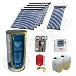 Panouri cu tuburi vidate SIU 1x10-4x20-1000.2BM, Pachet panouri solare cu tuburi vidate import China, Panouri solare cu tuburi vidate cu boiler solar
