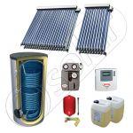 Set panouri solare cu tuburi vidate fabricate in China, SIU 2x10-2x20-800.2BM pachet panouri solare cu tuburi vidate, Panouri solare cu boiler solar import China