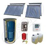 Pachet panouri solare cu tuburi vidate fabricate in China, SIU 2x20-2x30-800.1BM set panouri solare cu tuburi vidate, Panouri solare import China la set cu boiler solar
