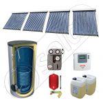 Panouri solare cu tuburi vidate fabricate in China, Set panouri solare import China cu boiler solar, Pachet panouri solare cu tuburi vidate si boiler SIU 4x18-750.1BM