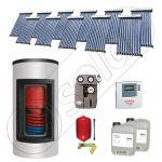 Panouri solare Solariss Iunona, Panou solar cu tuburi vidate si boiler Kombi cu o serpentina, Panouri solare ieftine cu boiler si un schimbator de caldura