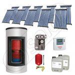 Panou solar ieftin cu tuburi vidate si boiler Kombi cu o serpentina, Panouri solare cu boiler monovalent de 800/200 litri, Panouri solare China Solariss Iunona