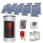 Panouri solare ieftine cu boiler Kombi bivalent de 800/200 litri, Pachet cu panou solar cu tuburi vidate, Set panouri solare import China Solariss Iunona