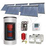 Set panouri solare ieftine cu boiler Kombi de 1500/300 litri si doua serpentine, Set panouri solare Solariss Iunona, Pachet cu panou solar China cu tuburi vidate