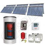 Pachet cu panou solar cu tuburi vidate, Panouri solare si boiler Kombi cu 2 serpentine, Panouri cu tuburi vidate si boiler Solariss Iunona