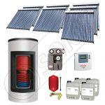 Panou solar ieftin cu tuburi vidate si boiler Kombi cu o serpentina, Panou solar china Solariss Iunona, Panouri solare cu boiler Kombi monovalent de 1500/300 litri