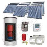 Panou solar ieftin cu tuburi vidate si boiler Kombi cu o serpentina, Panouri solare cu boiler monovalent de 1500/300 litri, Panouri solare China Solariss Iunona