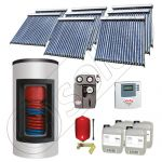 Panouri solare ieftine cu boiler Kombi bivalent de 1500/300 litri, Pachet cu panou solar cu tuburi vidate, Set panouri solare import China Solariss Iunona