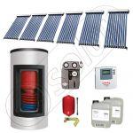 Panou solar ieftin cu tuburi vidate si boiler Kombi cu o serpentina, Panou solar china Solariss Iunona, Panouri solare cu boiler Kombi monovalent de 650/150 litri