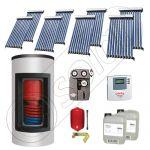 Panou solar ieftin cu tuburi vidate si boiler Kombi cu o serpentina, Panouri solare cu boiler monovalent de 650/150 litri, Panouri solare China Solariss Iunona