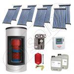 Panouri solare ieftine cu boiler Kombi bivalent de 650/150 litri, Pachet cu panou solar cu tuburi vidate, Set panouri solare import China Solariss Iunona