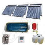 Colectoare solare cu tuburi vidate fabricate in China, Instalatii solare pentru apa calda cu boiler solar, Instalatie solara cu tuburi vidate si boiler import China SIU 6x20-1500.1BMH