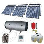Colectoare solare cu tuburi vidate fabricate in China, Instalatii solare pentru apa calda cu boiler solar, Instalatie solara cu tuburi vidate si boiler import China SIU 6x20-750.2BMH