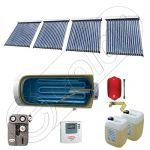 Pachet colectoare solare cu tuburi vidate si boiler pentru apa menajera SIU 4x18-750.1BMH, Instalatii solare cu tuburi vidate fabricate in China, Set colectoare solare pentru apa calda cu boiler solar