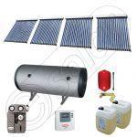 Pachet colectoare solare cu tuburi vidate si boiler pentru apa menajera SIU 4x18-750.2BMH, Instalatii solare cu tuburi vidate fabricate in China, Set colectoare solare pentru apa calda cu boiler solar