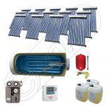 Colectoare solare cu tuburi vidate fabricate in China, Instalatie solara cu tuburi vidate si boiler import China SIU 14x10-1000.1BMH, Instalatii solare pentru apa calda cu boiler solar