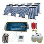 Colectoare solare cu tuburi vidate fabricate in China, Instalatie solara cu tuburi vidate si boiler import China SIU 14x10-1500.1BMH, Instalatii solare pentru apa calda cu boiler solar