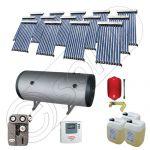 Colectoare solare cu tuburi vidate fabricate in China, Instalatie solara cu tuburi vidate si boiler import China SIU 14x10-1500.2BMH, Instalatii solare pentru apa calda cu boiler solar
