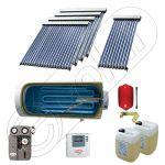 Instalatie solara cu tuburi vidate cu boiler orizontal SIU 1x10-4x20-800.1BMH, Set colectoare solare cu boiler pentru apa calda tot timpul anului, Panouri solare vidate cu boiler solar la pret rezonabil