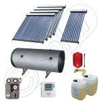 Instalatie solara cu tuburi vidate cu boiler orizontal SIU 1x10-4x20-800.2BMH, Set colectoare solare cu boiler pentru apa calda tot timpul anului, Panouri solare vidate cu boiler solar la pret rezonabil