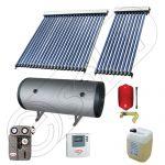 Set panou solar apa calda cu tuburi vidate cu boiler, Pachet cu panou solar cu tuburi vidate, Colectoare cu tuburi vidate si boiler orizontal