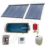 Panou solar ieftin cu tuburi vidate si boiler cu o serpentina, Panouri solare cu boiler monovalent de x litri, Colectoare solare pentru apa calda