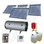 Panouri solare vidate cu boiler solar la pret rezonabil, Instalatie solara cu tuburi vidate cu boiler orizontal SIU 3x20-1x30-750.2BMH, Set colectoare solare cu boiler pentru apa calda tot timpul anului