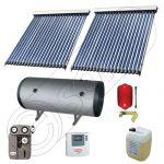 Set panouri solare ieftine cu boiler de 400 litri si doua serpentine, Instalatii panouri solare Solariss Iunona, Pachet cu panou solar apa calda tot anul