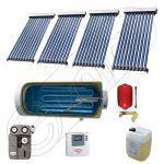 Colectoare solare China cu boiler si un schimbator de caldura, Pachet cu panouri solare apa calda tot anul, Panouri solare si boiler Solariss Iunona