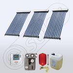 Set panouri solare cu 10 tuburi vidate, Pachet cu panou solar cu tuburi vidate, Panouri cu tuburi vidate pentru apa calda SIU 3x10