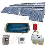 Set colectoare solare vidate si boiler orizontal SIU 13x22-2000.1BMH, Instalatii solare presurizate cu boiler solar pentru apa calda, Colectoare solare vidate la pachet cu boiler orizontal
