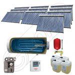 Set colectoare solare vidate si boiler orizontal SIU 10x30-2000.1BMH, Instalatii solare presurizate cu boiler solar pentru apa calda, Colectoare solare vidate la pachet cu boiler orizontal