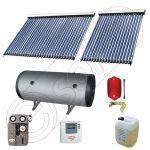 Pachet cu panou solar apa calda tot anul, Instalatii solare si boiler cu 2 serpentine, Panouri cu tuburi vidate si boiler Solariss Iunona